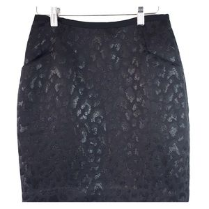 SZ 6 Metallic Black Detail Skirt w/ Pockets